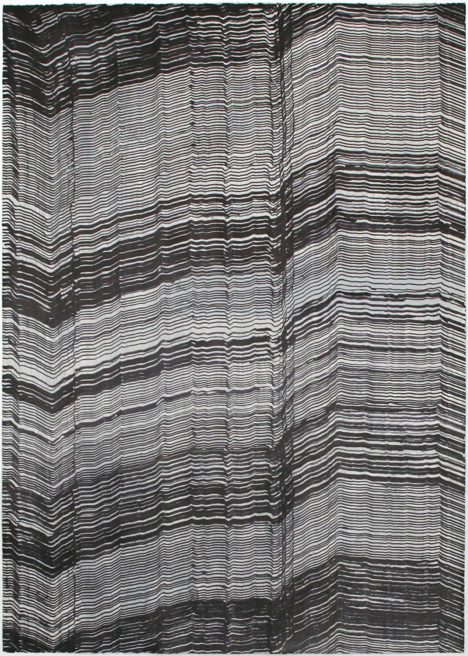 """geology II"" Lack auf Bütenpapier 107 x 76 cm"