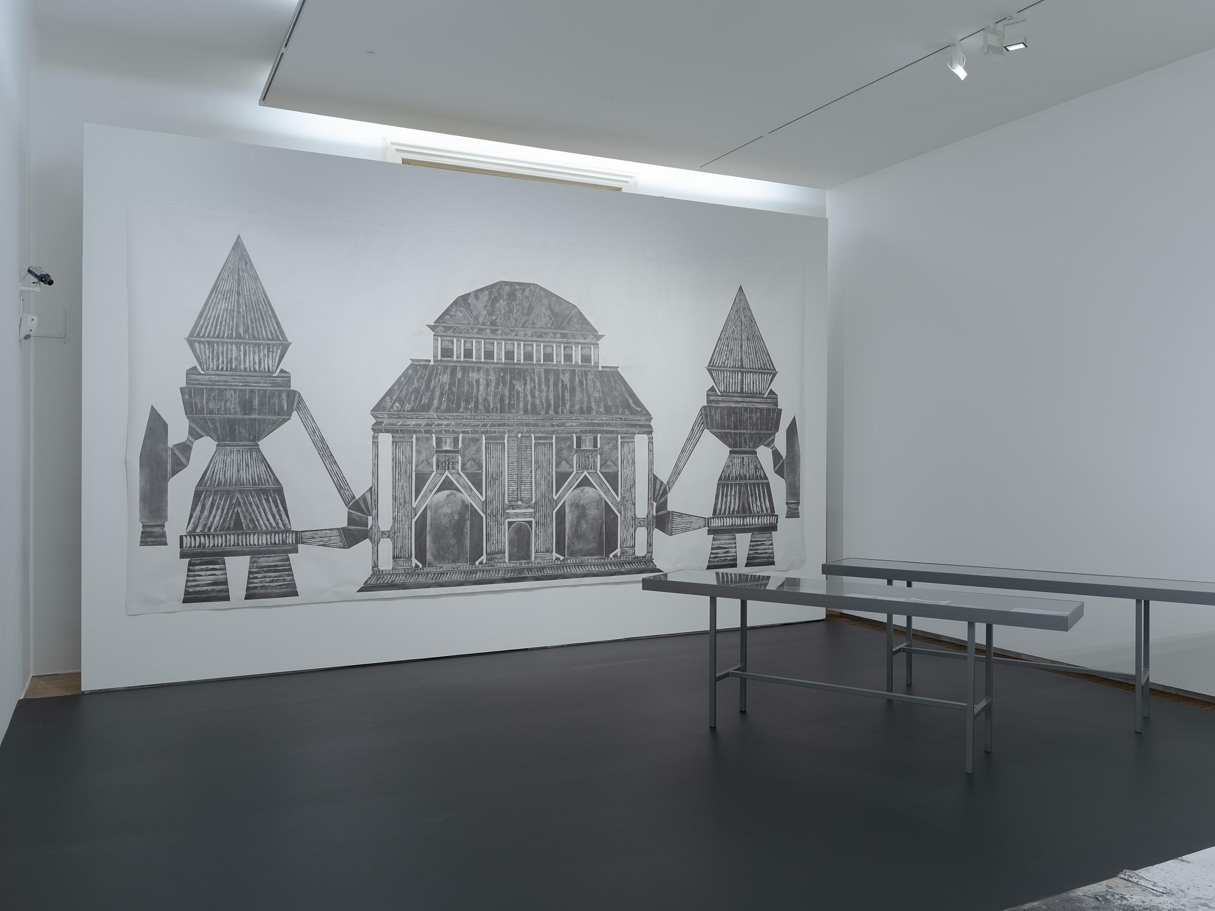 """Ausstellungsansicht """"Obsession Zeichnen"""", Universalmuseum Joanneum - Neue Galerie Graz / Bruseum 2018"""