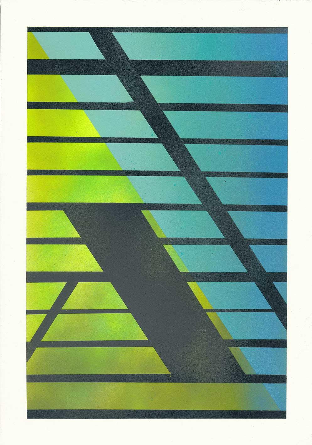 ohne Titel Acryl auf Papier 29,7 x 21 cm