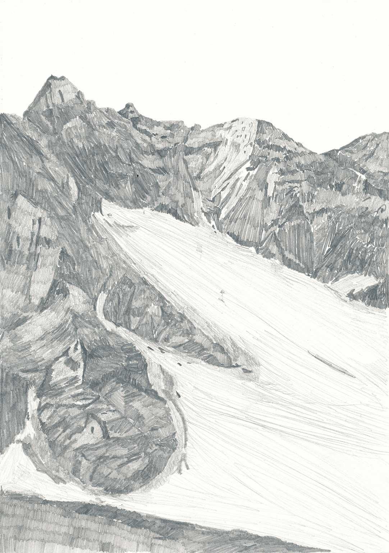 ohne Titel Bleistift auf Papier 29,7 x 21 cm