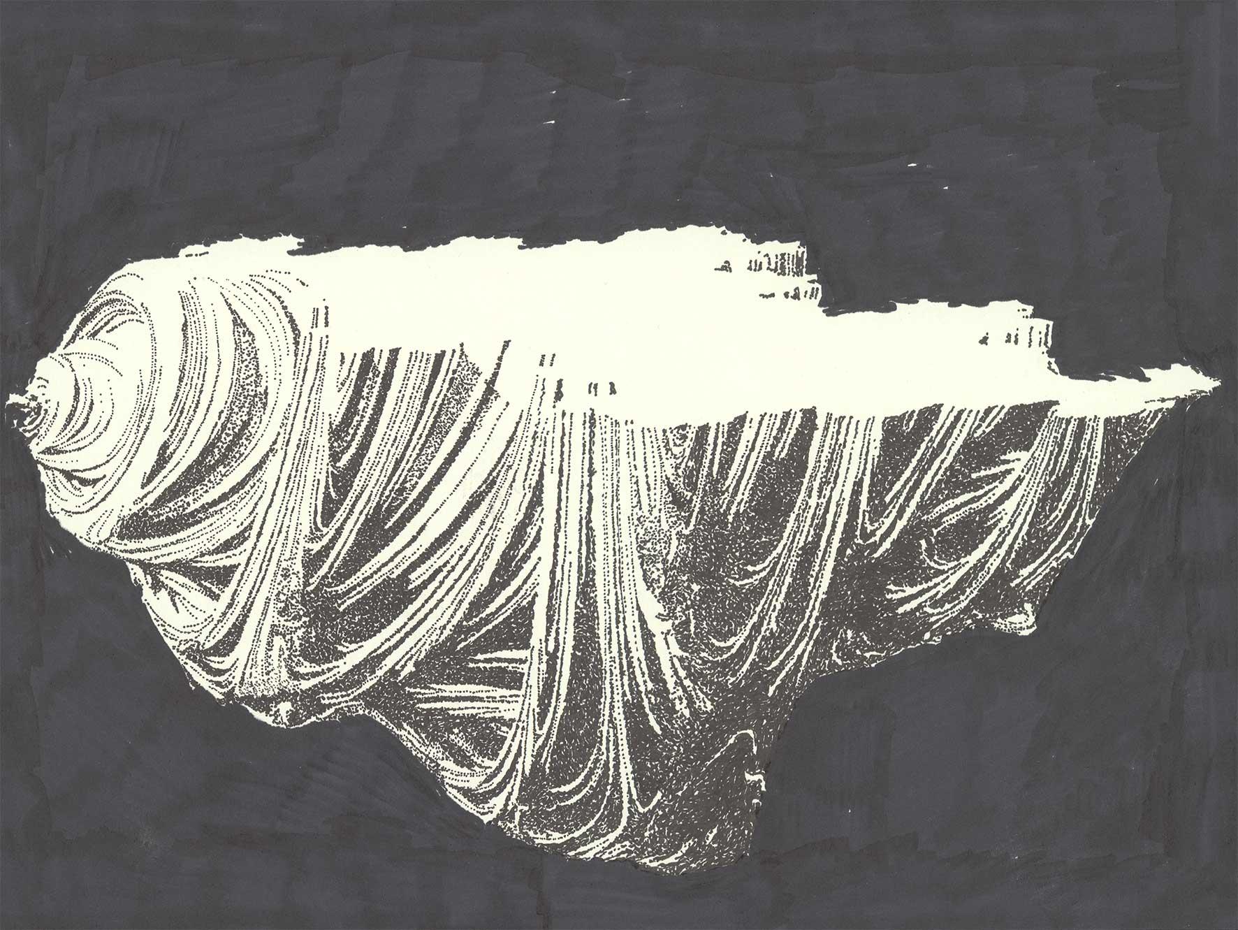 ohne Titel Tusche auf Papier 24 x 33 cm