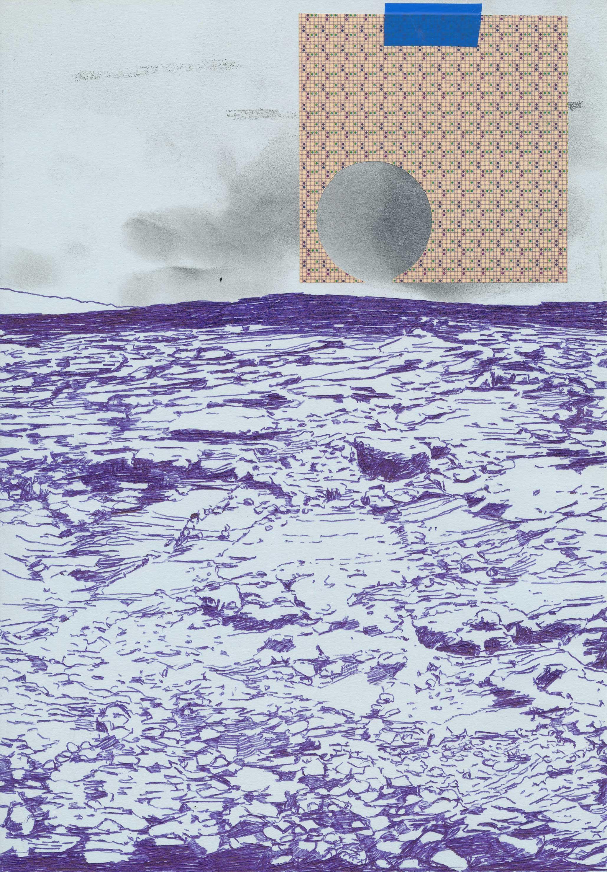 ohne Titel Kugelschreiber, Graphit und Collage auf Papier 30 x 21 cm