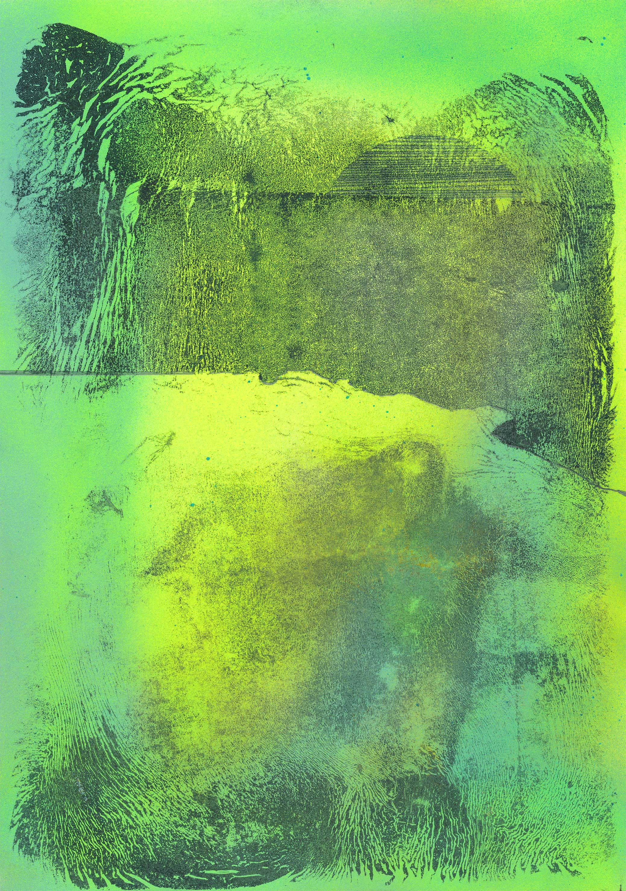 ohne Titel Acryl und Bleistift auf Papier 30 x 21 cm courtesy Galerie Krinzinger