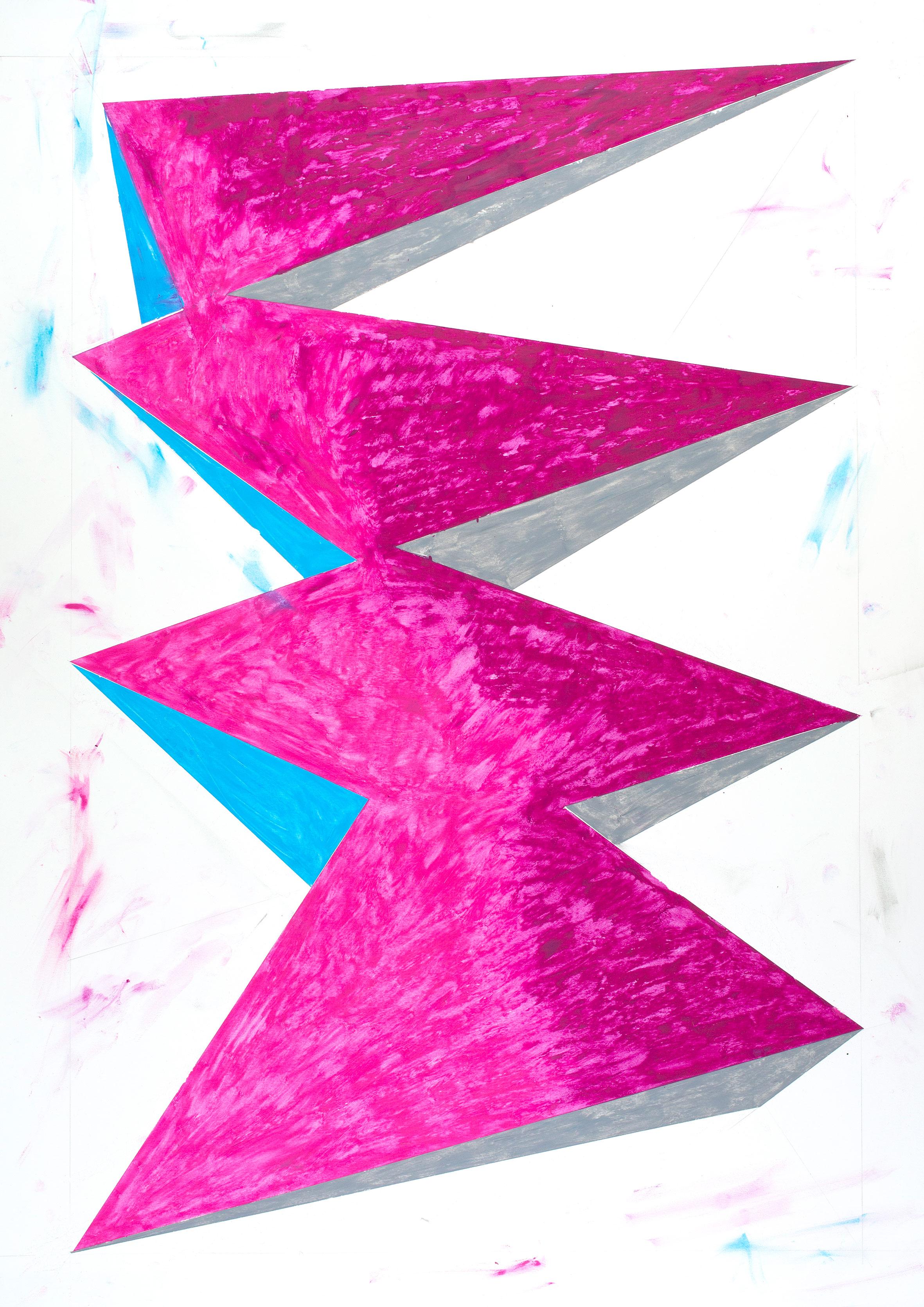 """""""object N° 3"""" Bleistift und Ölkreide auf Papier 90 x 75 cm (Foto Jasha Greenberg)"""