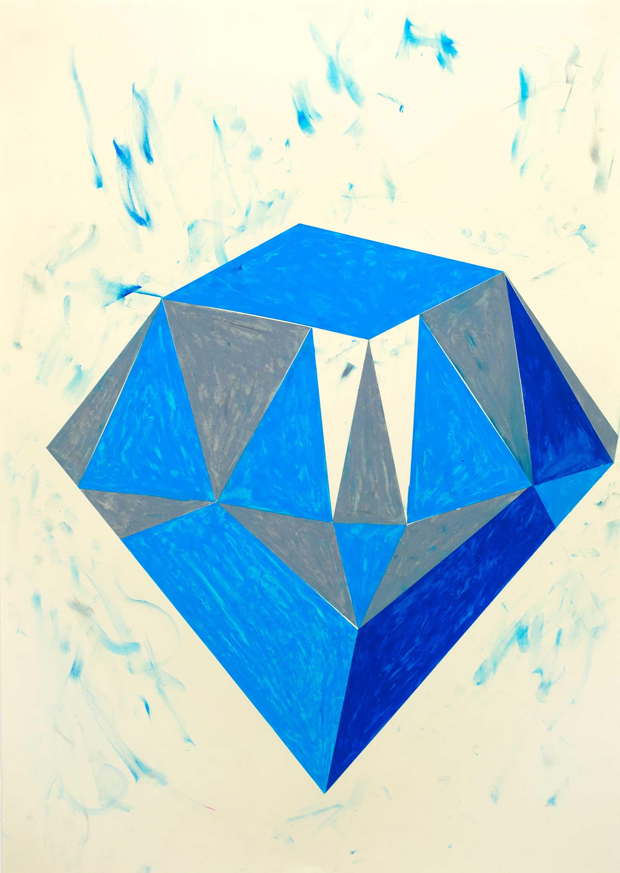 """""""we will find by starlight"""" Bleistift und ölkreide auf Papier 86 x 61 cm (Foto Jasha Greenberg)"""