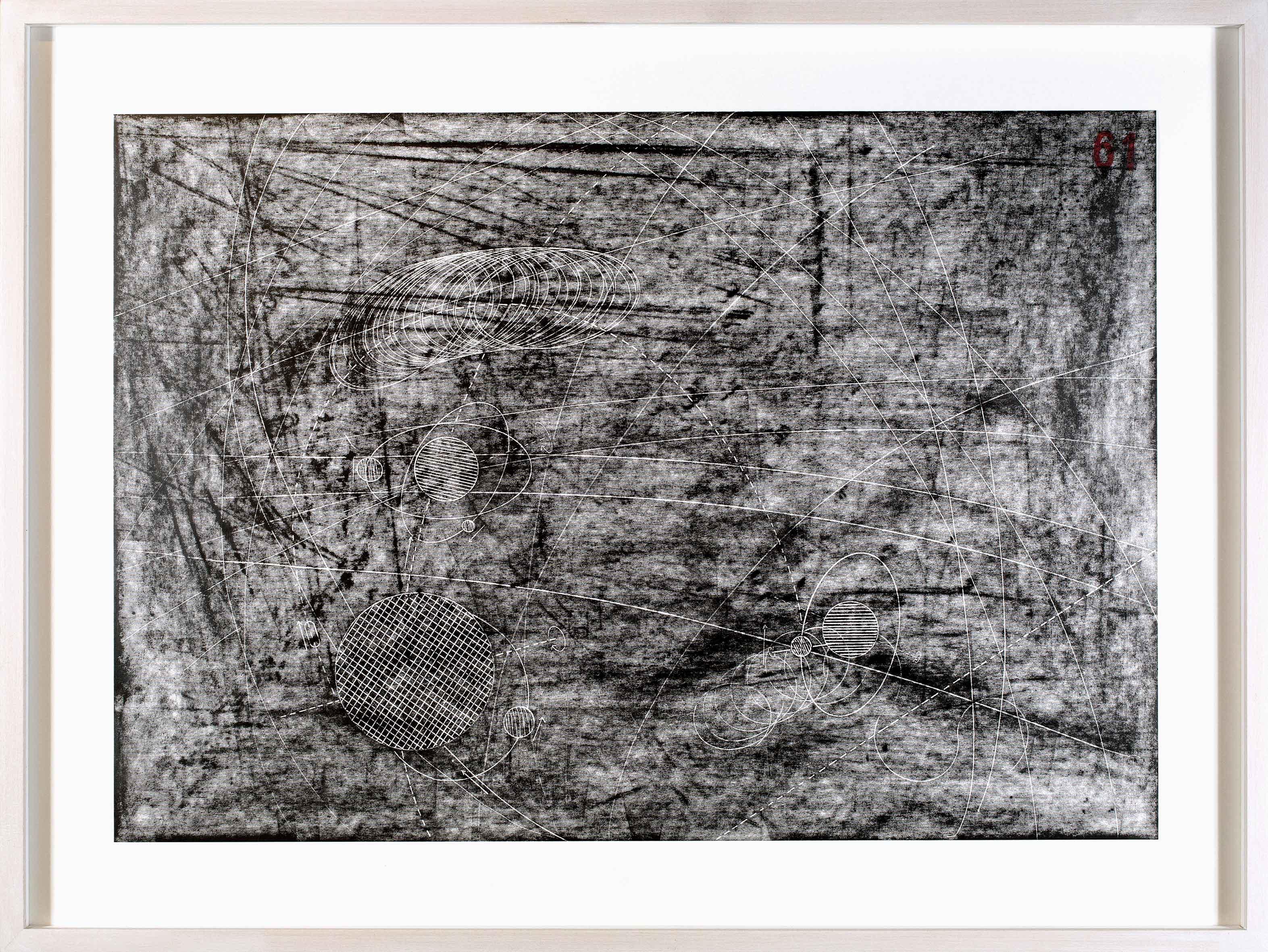 """aus der Serie: """"Raumrouten"""" 30 x 50 cm Bleistift auf Papier (Foto: Jasha Greenberg)"""