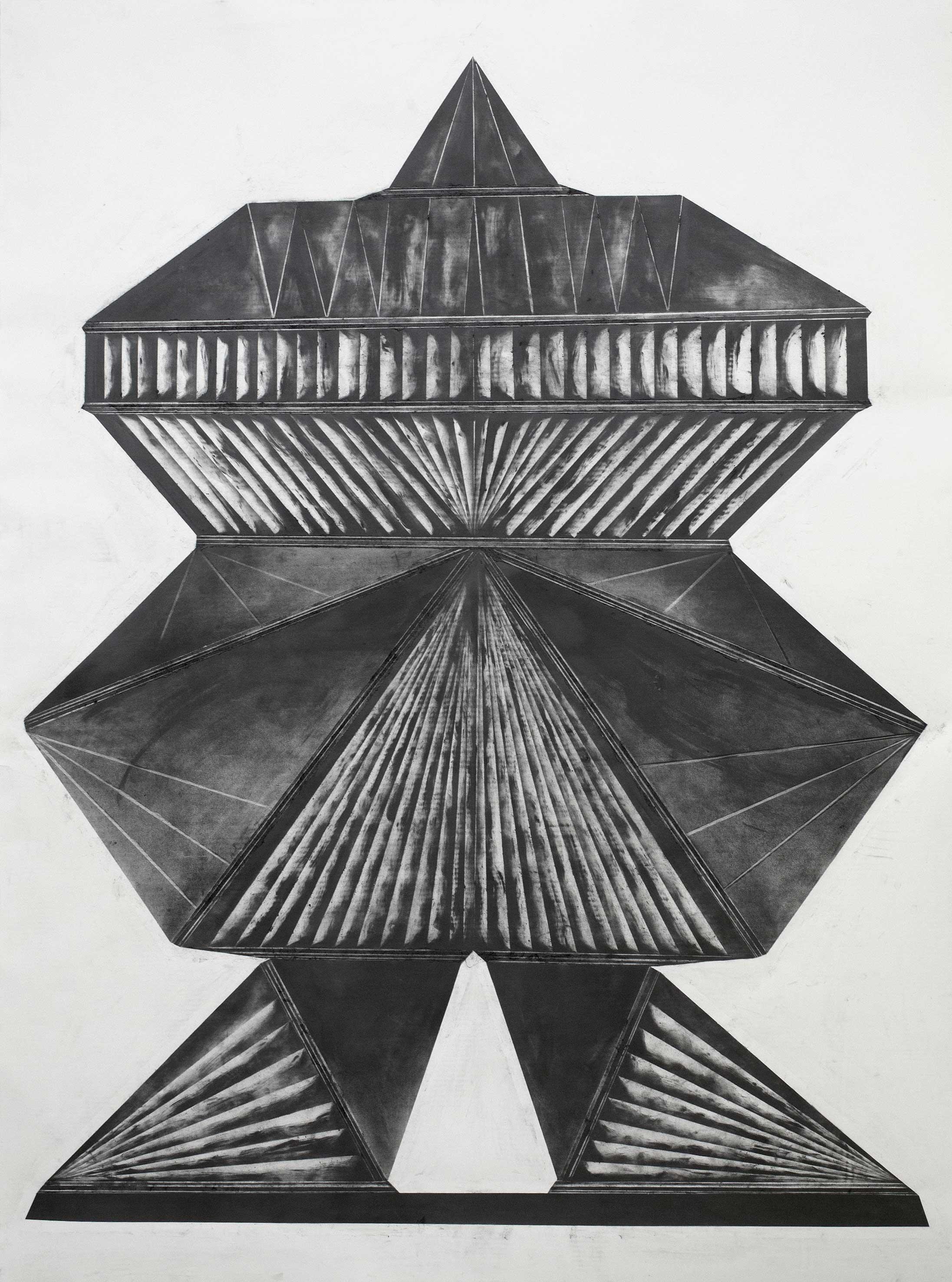"""""""my dear Robot"""" 170 x 150 cm Bleistift und Graphit auf Papier (Foto: Krinzinger Projekte / Jasha Greenberg)"""