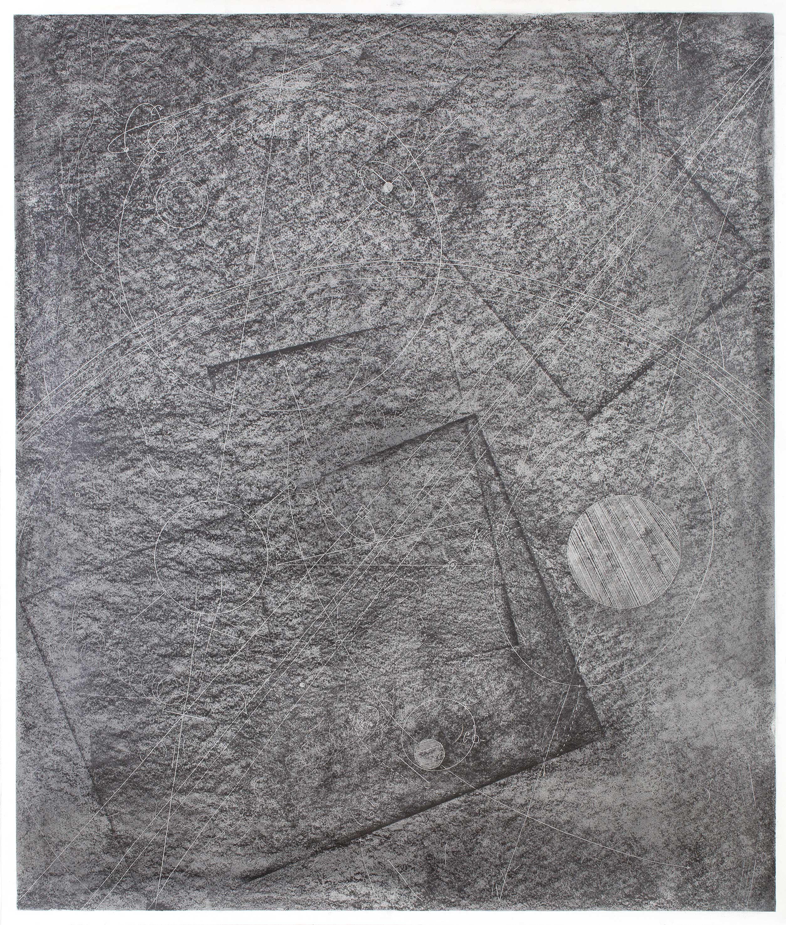 """""""Raumroute I"""" 110 x 100 cm Bleistift auf Papier (Foto: Krinzinger Projekte / Jasha Greenberg)"""