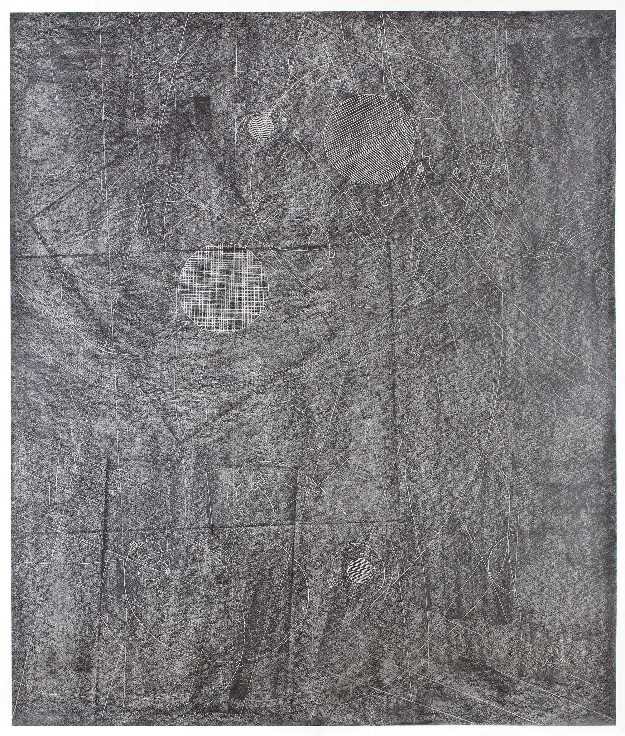 """""""Raumroute II"""" 110 x 100 cm Bleistift auf Papier (Foto: Krinzinger Projekte / Jasha Greenberg)"""