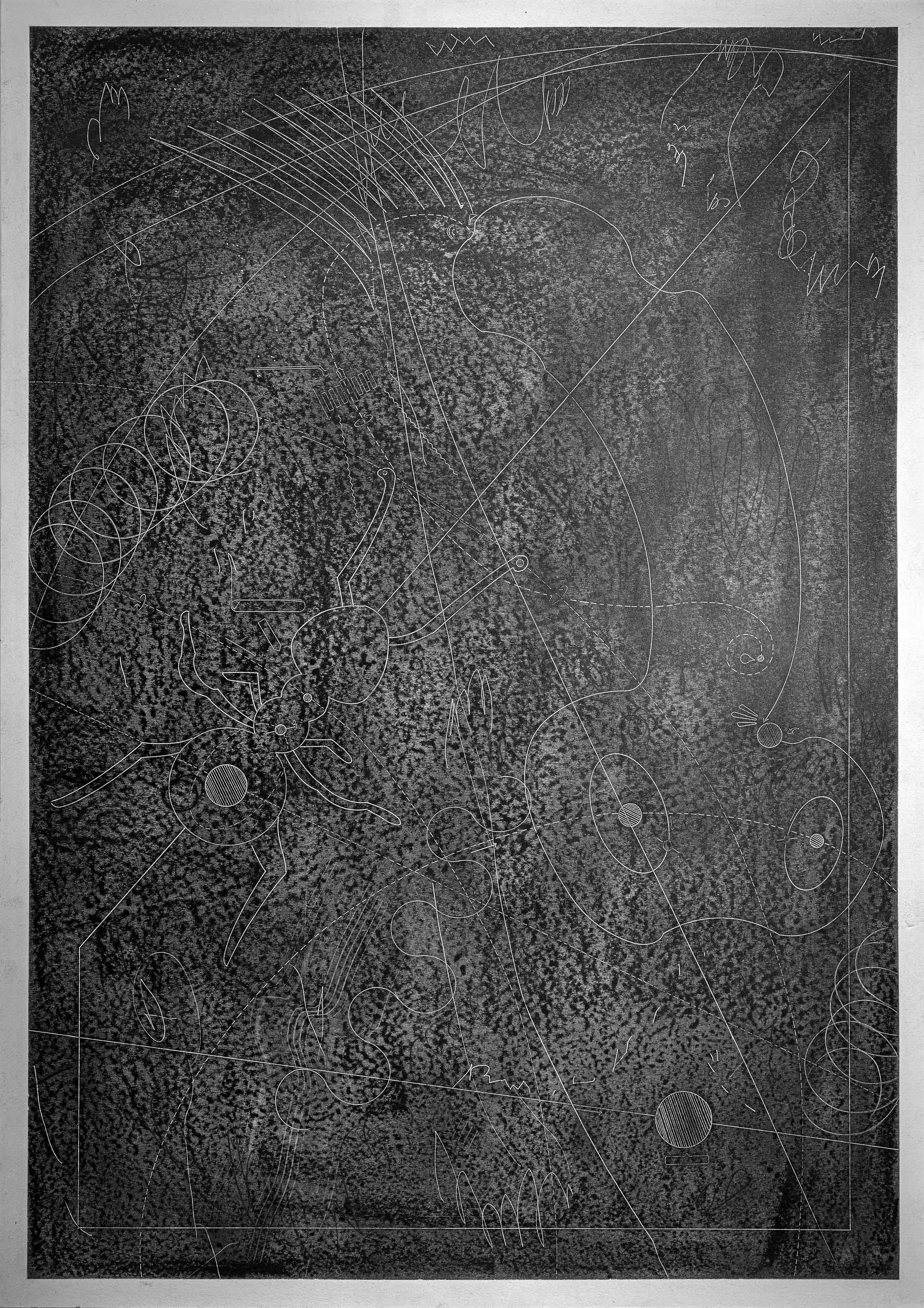 """aus der Serie """"wandering in dreams"""", Graphit und Bleistift auf Papier, 84 x 60 cm (Foto: Galerie Schloss Parz / Christoph Koch)"""