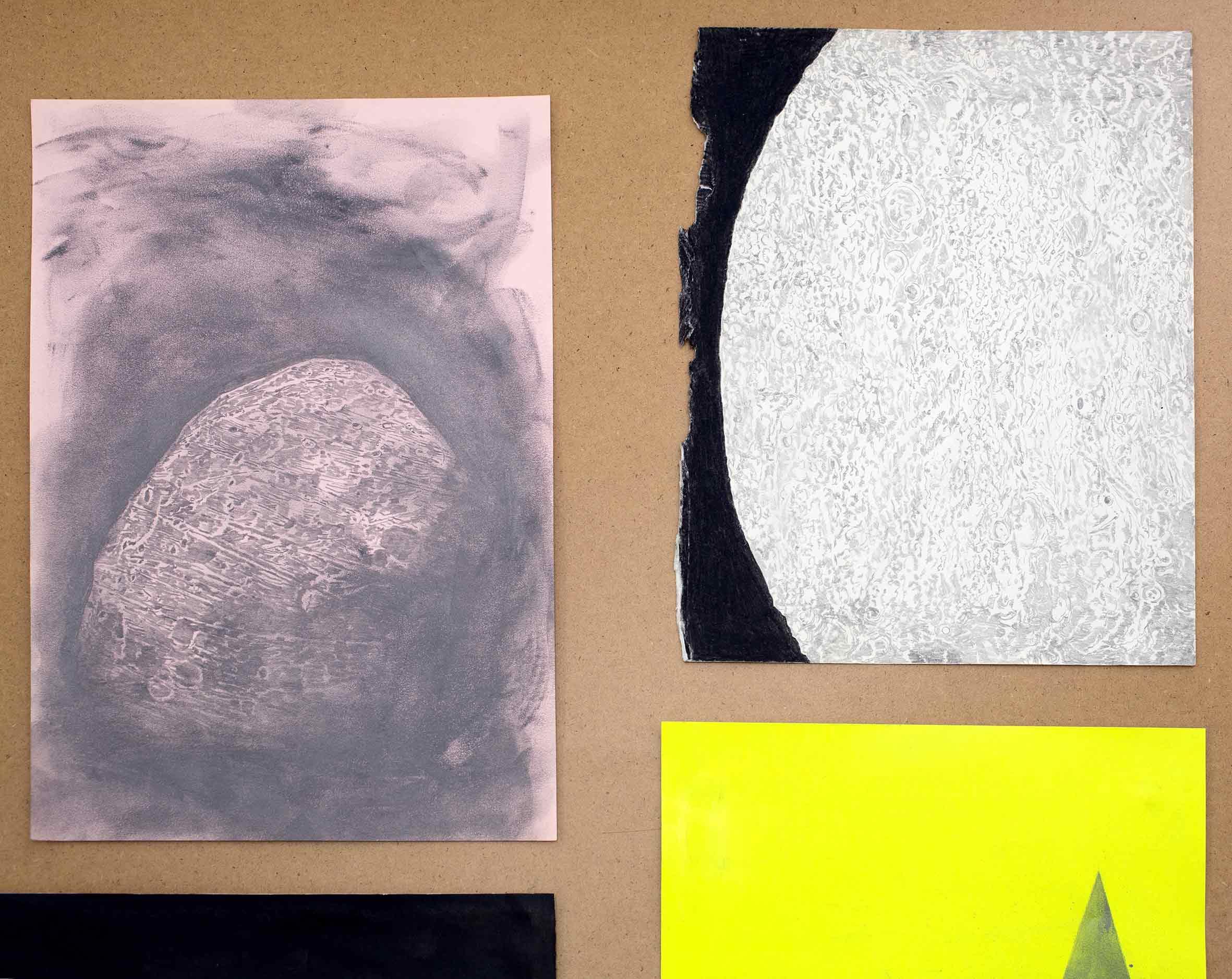 """Detailansicht """"in a dream of suns and moons"""", Graphit auf Papier (Foto: Krinzinger Projekte / Jasha Greenberg)"""