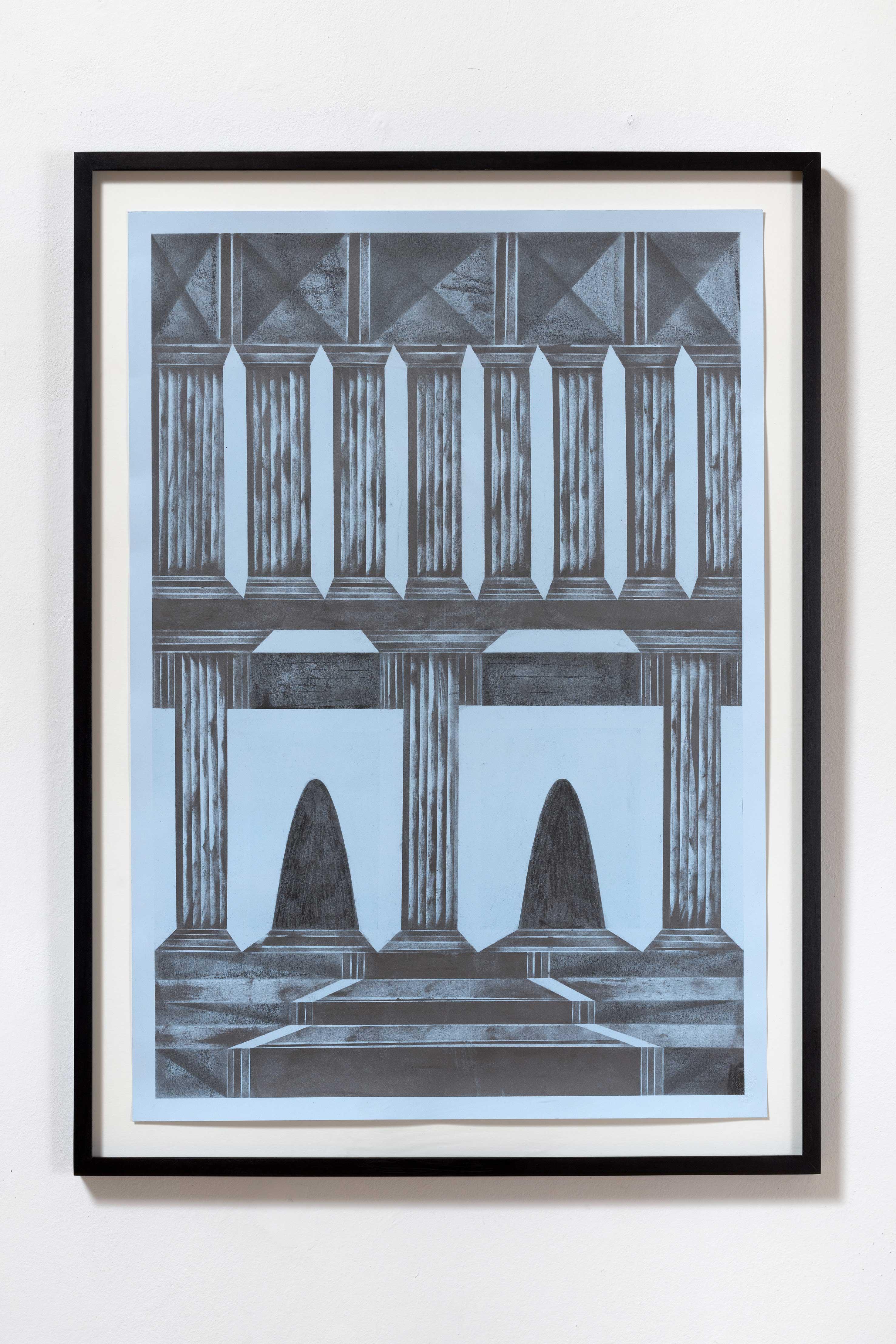 """all I believe that happened there was vision I"", Bleistift auf Papier, 73 x 51 cm (Foto: VILTIN Gallery / Dávid Biró)"