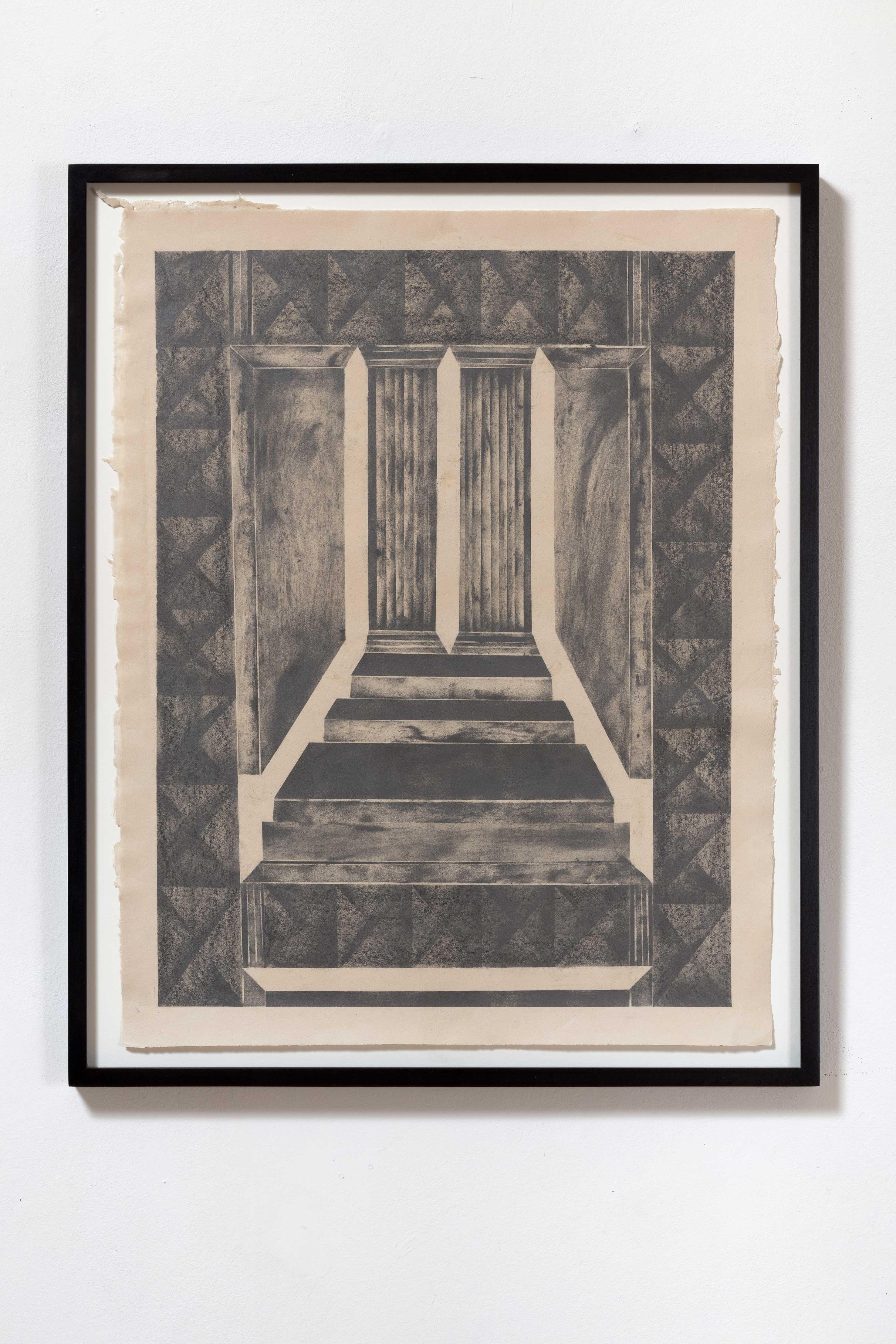 """ all I believe that happened there was vision VI"", Bleistift auf Papier, 67 x 53 cm (Foto: VILTIN Gallery / Dávid Biró)"