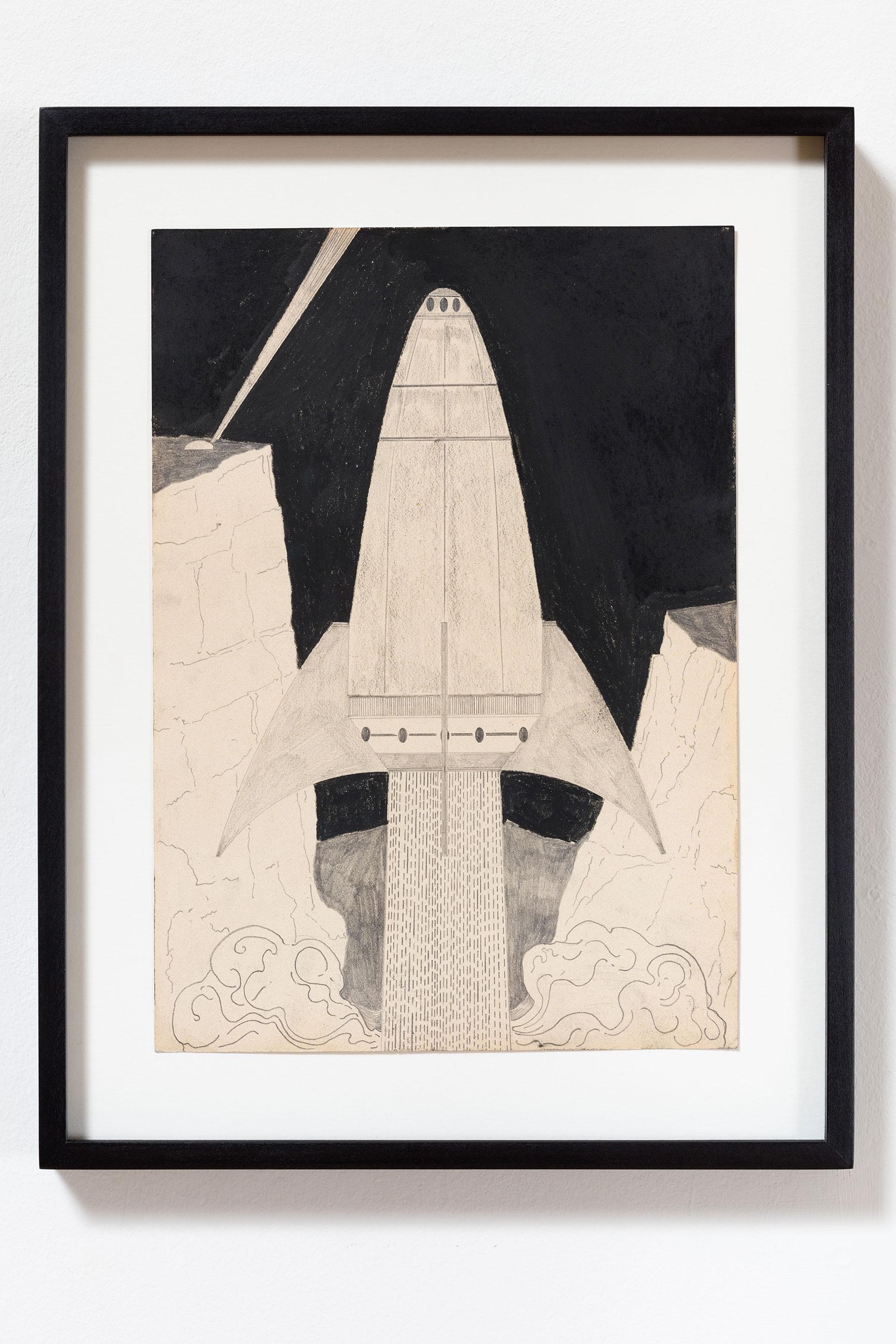 """""""wait upon the future days I"""", Kohle und Bleistift auf Papier, 30 x 21 cm (Foto: VILTIN Gallery / Dávid Biró)"""