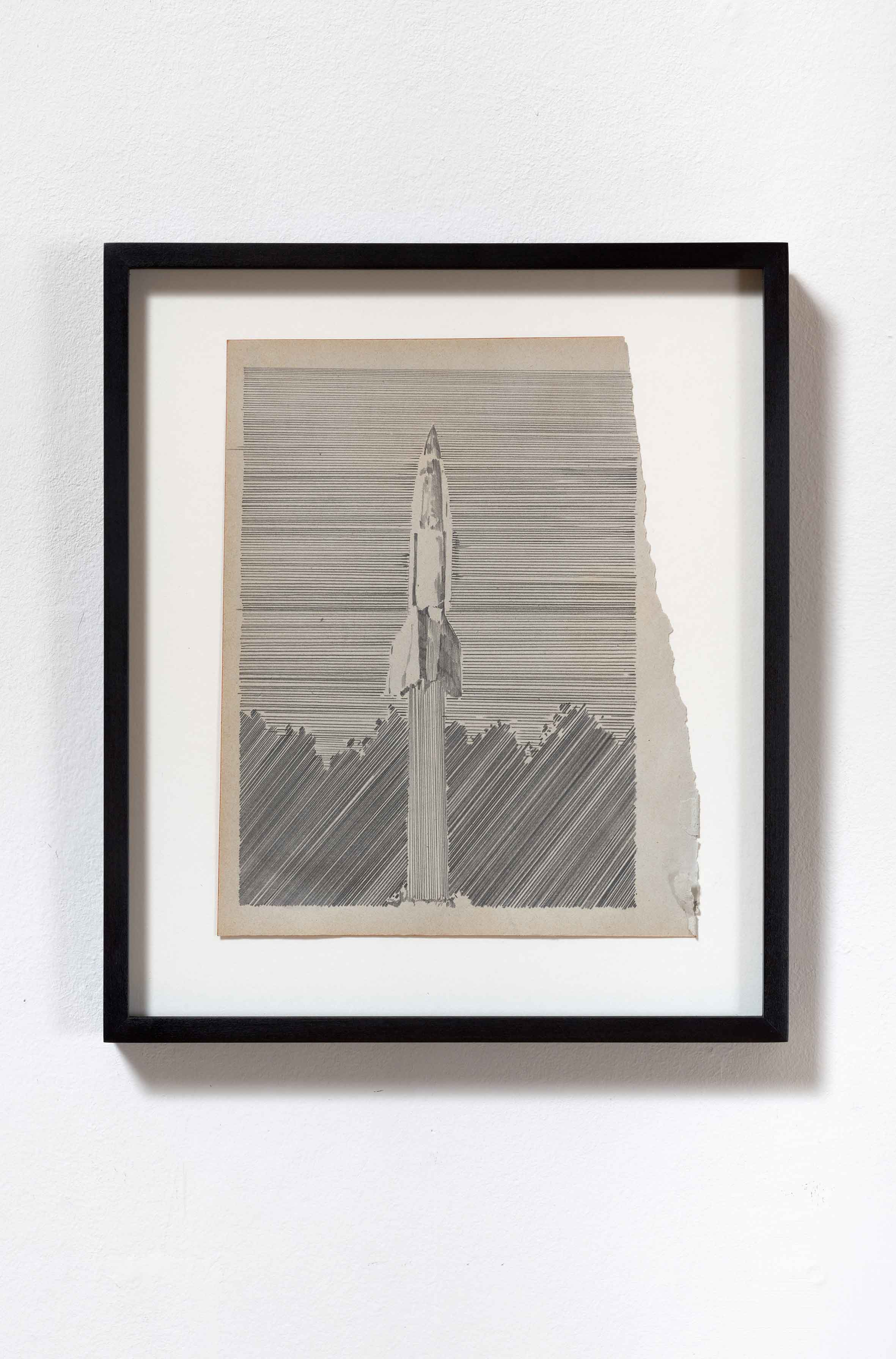 """wait upon the future days II"", Bleistift auf Papier, 24 x 19 cm (Foto: VILTIN Gallery / Dávid Biró)"