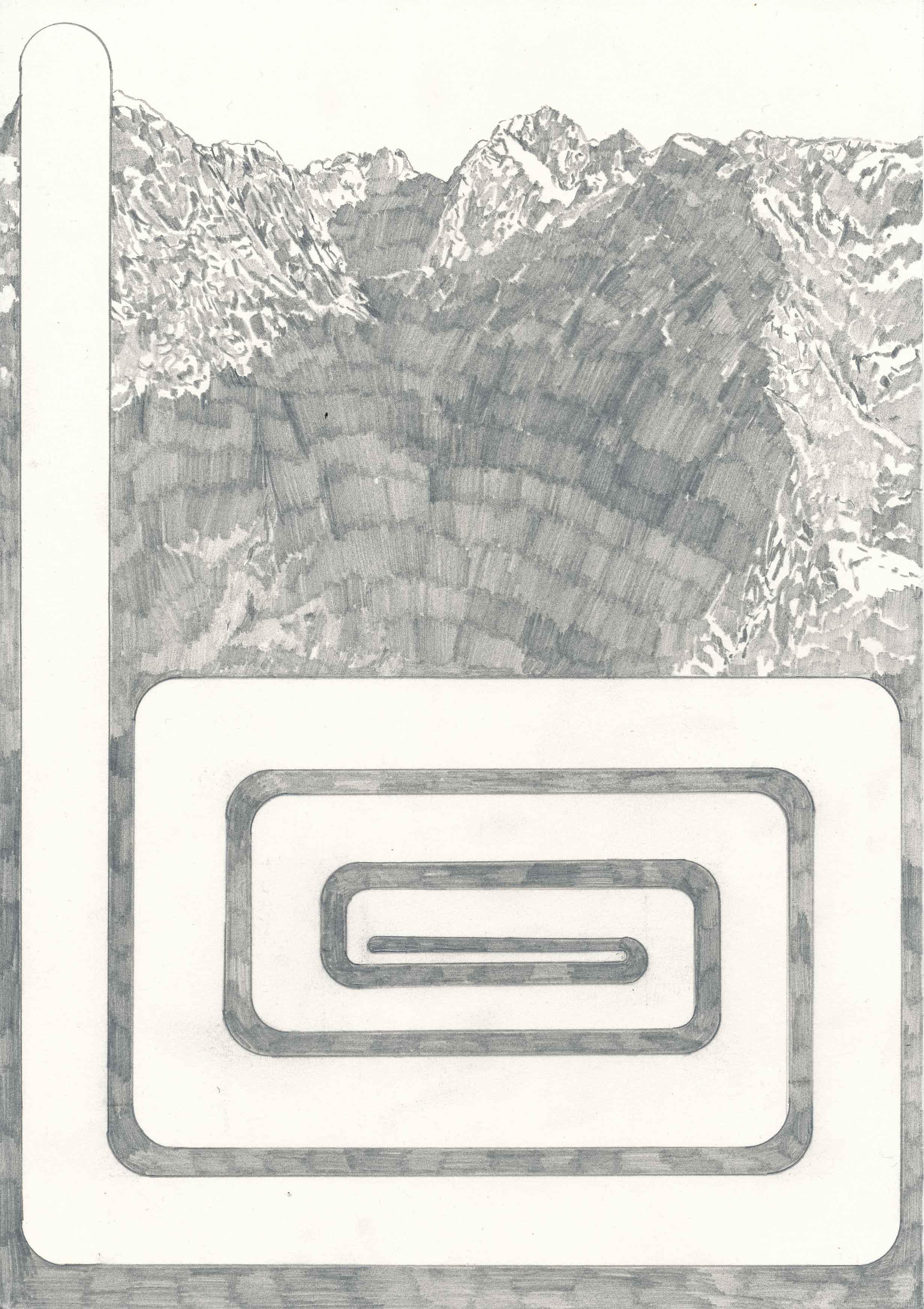 """transparent like the wind II"", Bleistift auf Papier, 30 x 21 cm"